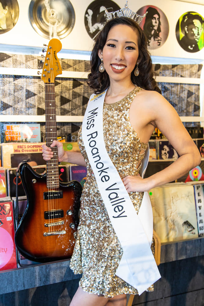 Miss Roanoke Valley at record shop Rick Myers 1
